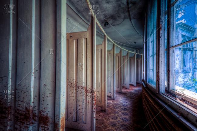 Decayed interior of a sanatorium