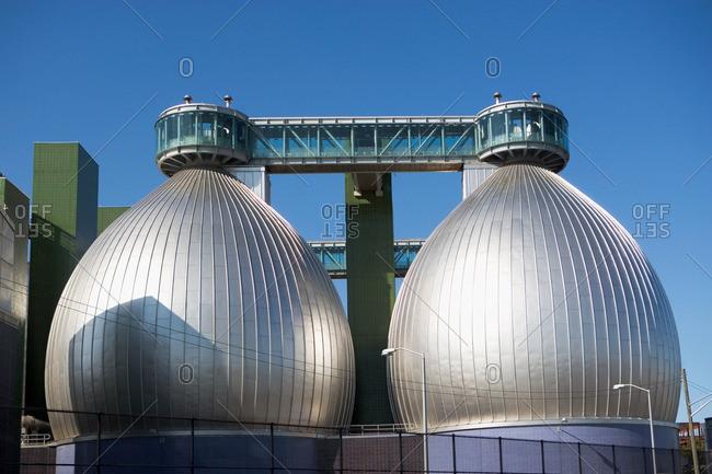Brooklyn, NY, USA - January 31, 2012: Newtown Creek Wastewater Treatment Plant