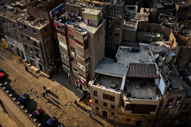 Cairo, Egypt - January 14, 2012: The streets of Old Cairo at sunset