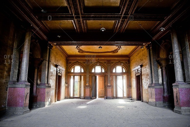 An abandoned palace in downtown Cairo, Egypt