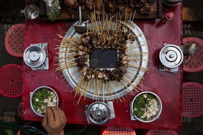 Wet Thar Dote Htoe snack served in Yangon, Myanmar