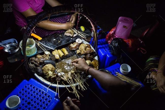Wet Thar Dote Htoe sold by a vendor in Yangon, Myanmar