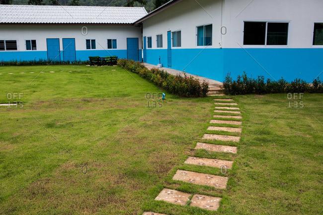 A school in remote Thailand