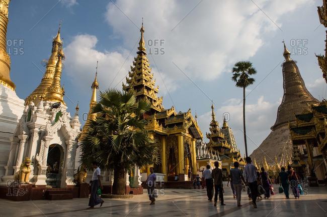 Bago, Myanmar - January 3, 2015: Shwemawdaw Paya Pagoda in Bago, Myanmar