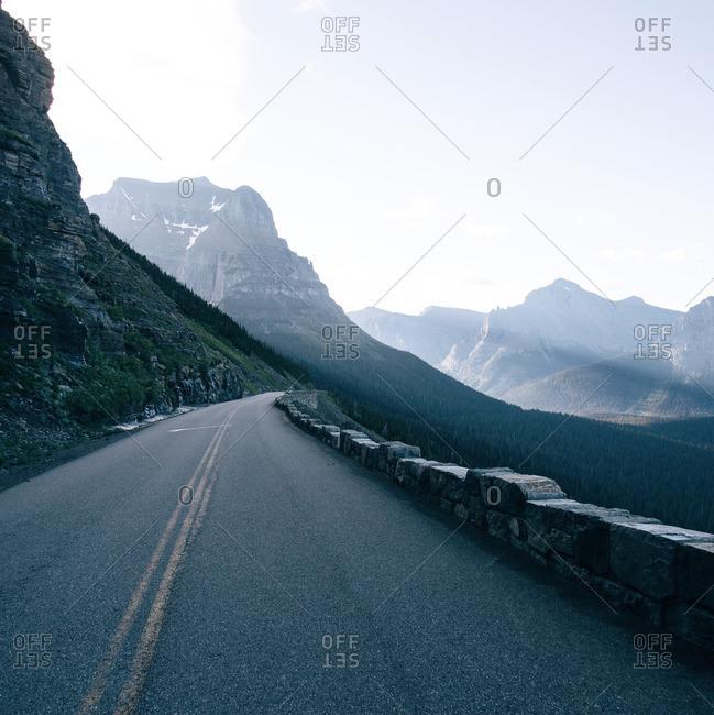Two lane mountain road