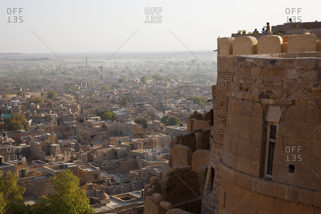 3/11/10: View over fort and town of Jaisalmer, Rajasthan, India