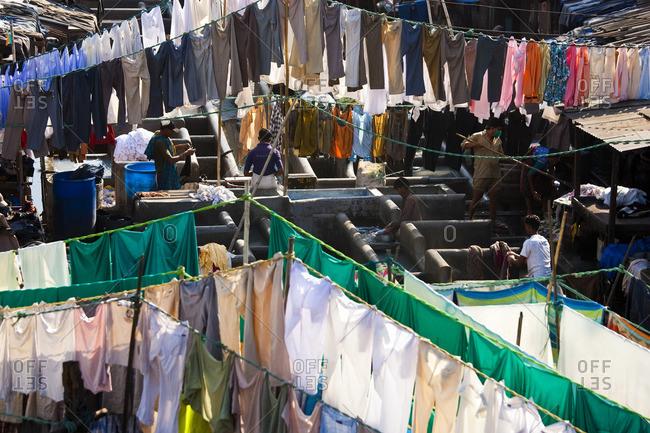 3/15/10: Washing at Dhobi Ghats, Mahalakshmi, Mumbai, India