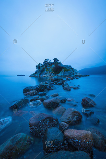 Rocky outcrop, Pacific Ocean, Whytecliff Park, West Vancouver, British Columbia, Canada