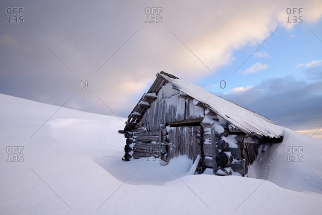 Shack in Chorna Tysa Mountain Village, Carpathian Mountains, Ivano-Frankovsk Region, Ukraine