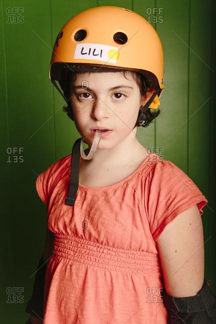Seattle, Washington, 11/13/15: Girl in roller derby gear