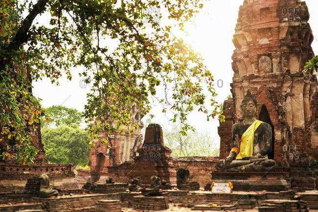 Thailand- Ayutthaya- Wat Mahathat at Historical Park