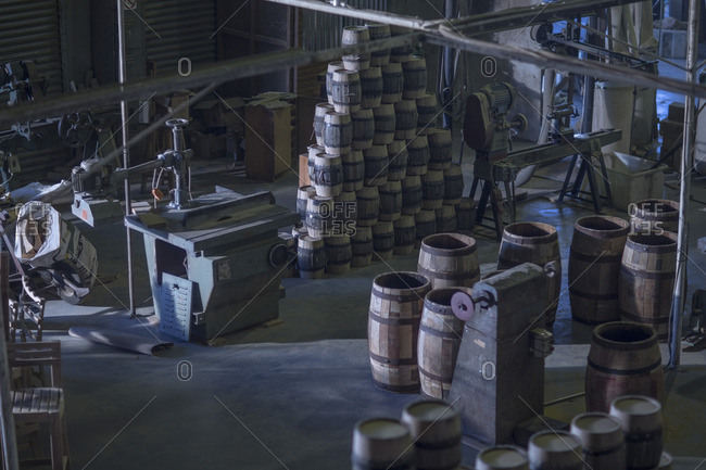 South Africa- Cape Town- wine barrels in cooperage