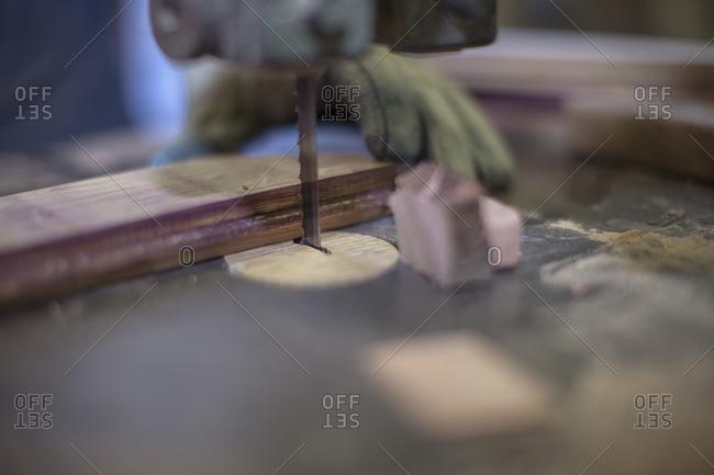 Cooperage- wood saw- sawing - Offset