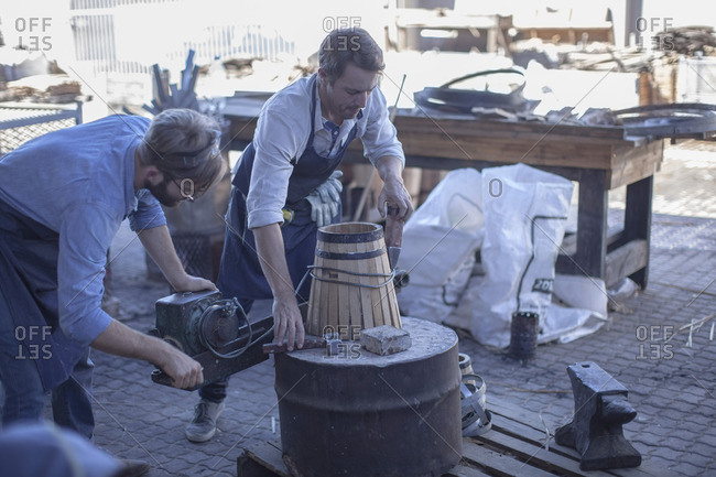 Cooperage- coopers working - Offset Collection