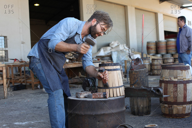 South Africa- Cape Town- cooperage- cooper and wine barrel