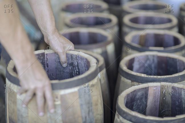 Cooperage- cooper and wine barrels