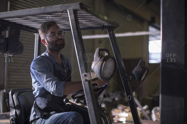South Africa- Cape Town- cooperage- cooper in forklift