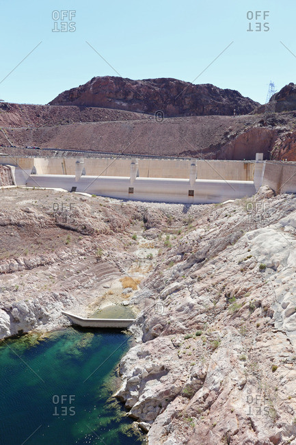 Hoover Dam, on the border between Nevada and Arizona, United States