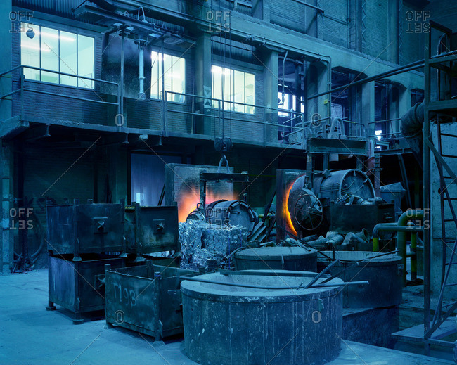 Heating components in propeller factory