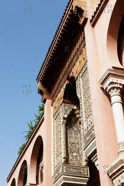 Ornate details on building archways