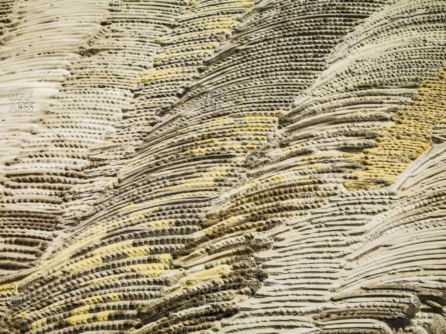 Overhead view of strip coal mining field