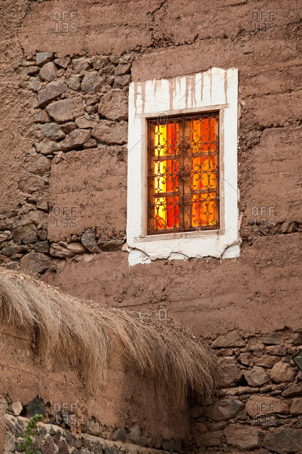 Exterior of an eco hotel in Imlil, Toubkal National Park, Morocco