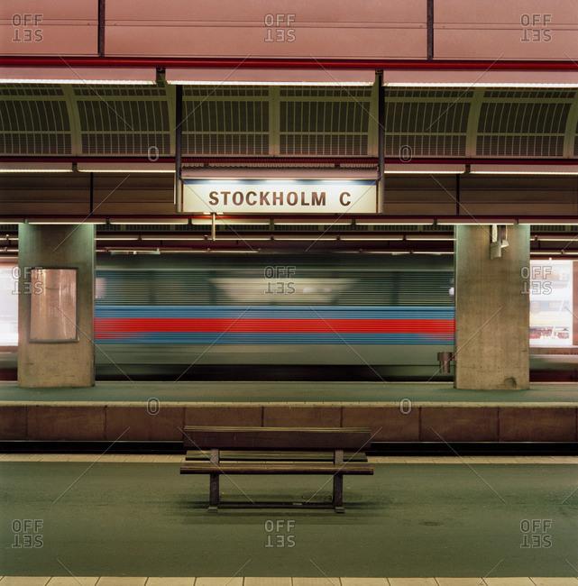 Stockholm, Sweden - May 8, 2013: Stockholm Central railway station