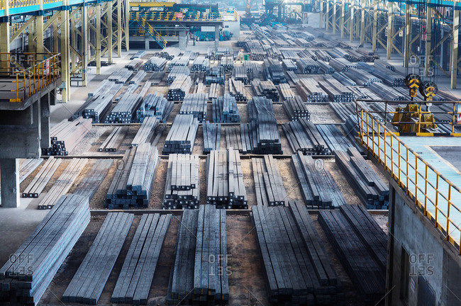 Shanghai, China - May 10, 2013: Steel manufacturing plant