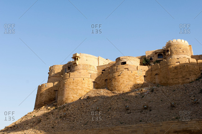 Jaisalmer Fort, the 'Golden Fort' It is one of the largest forts in the world Jaisalmer, Rajasthan, India