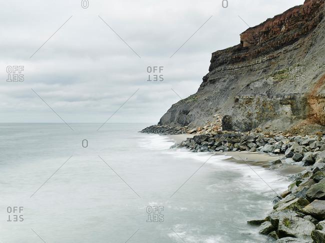 Rugged coastline of  Whitby, England