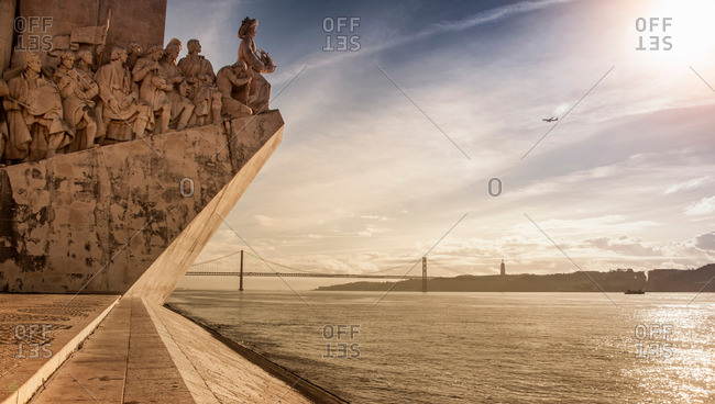 Lisbon, Portugal - November 1, 2012: The waterfront and the Monument to the Discoveries