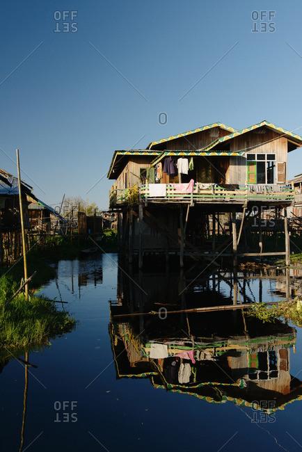 Stilt house, Nyaung Shwe, Inle Lake, Burma
