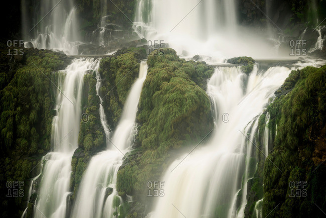Detail of Iguazu falls, Parana, Brazil