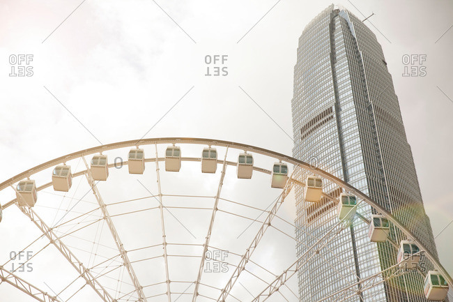 Observation wheel and central skyline, Hong Kong, China