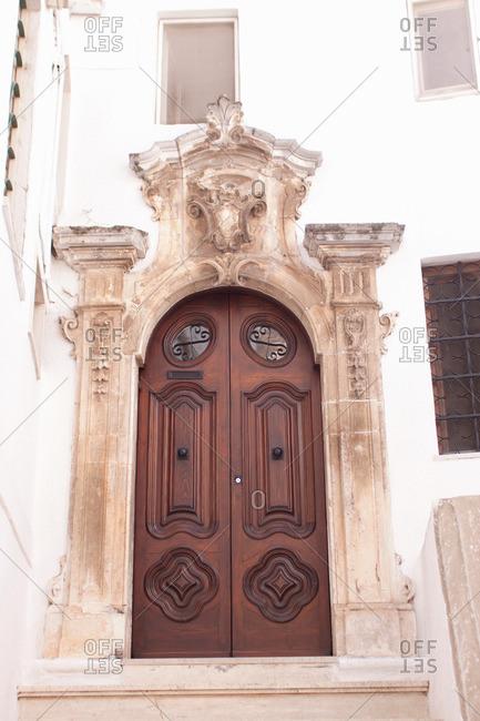 Traditional Baroque doors, Ostuni, Puglia, Italy
