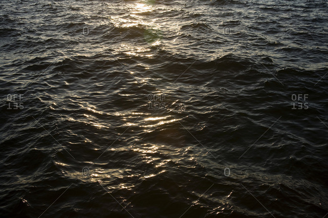 Sunlight reflected on water surface