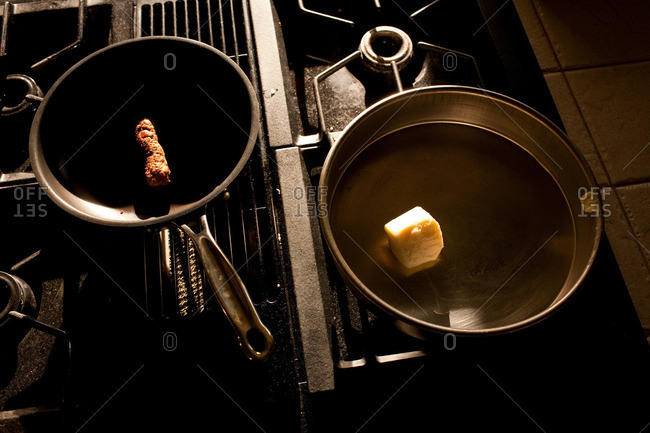 Food cooking on stove - Offset