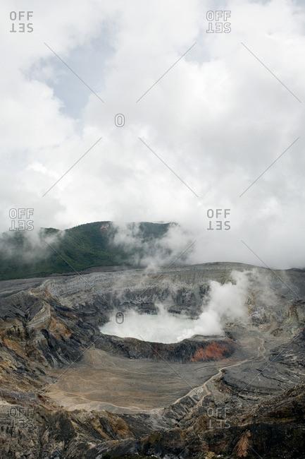 Poas Volcano crater, Poas Volcano National Park, Costa Rica
