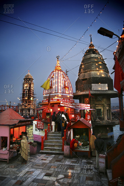 Evening in Haridwar, India