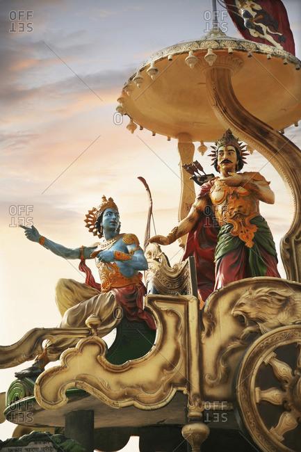 Statue of Arjuna in Rishikesh, India