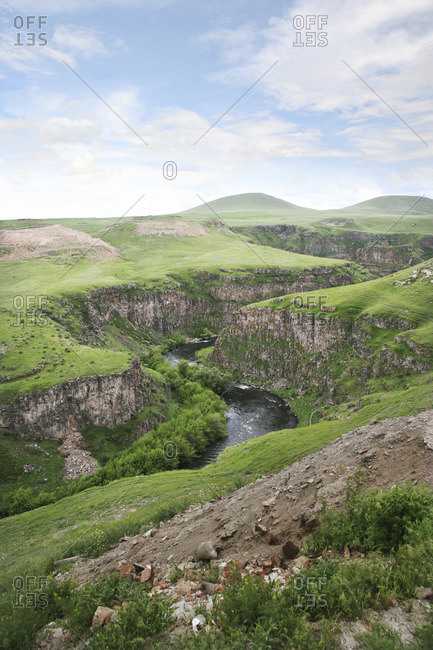 Gorge in Ani, Turkey