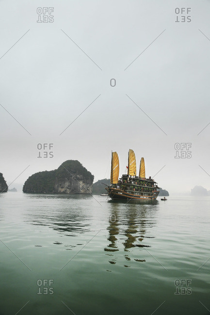 Tourist boat in Halong Bay, Vietnam