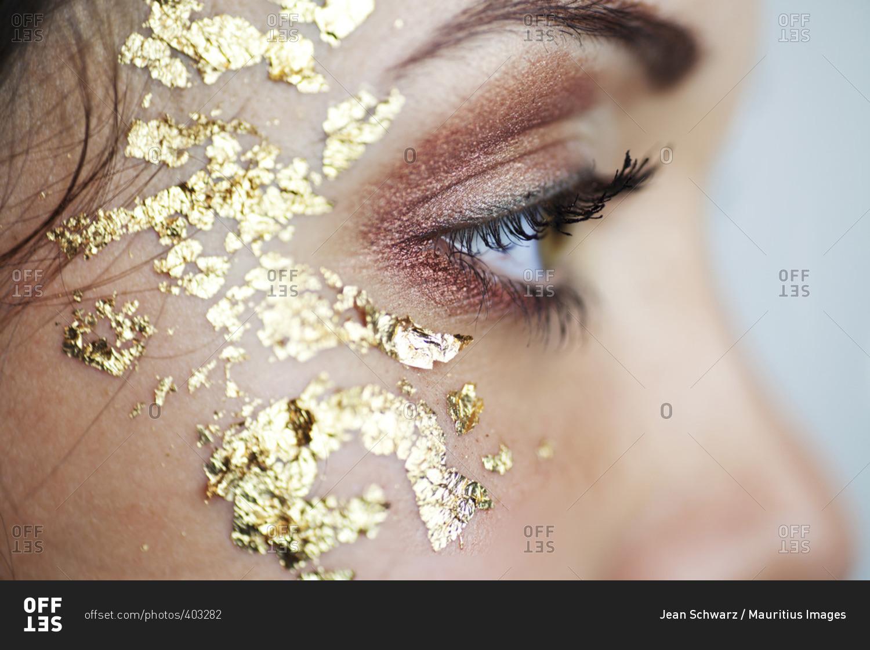 Gold Leaf Eye Makeup Satukisfo