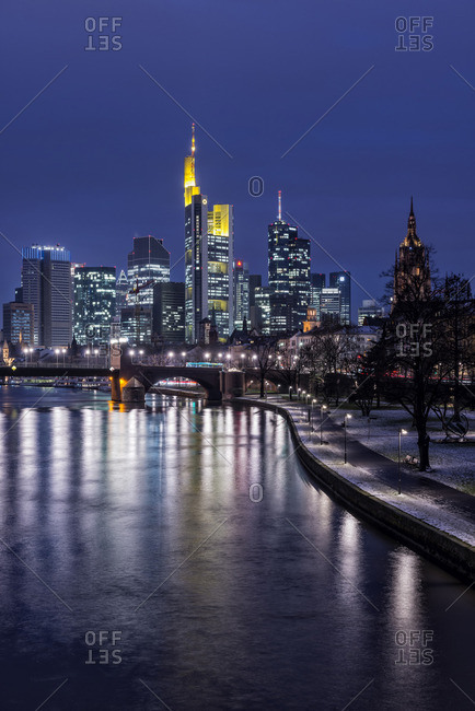 View of Commerzbank, in Frankfurt, Germany