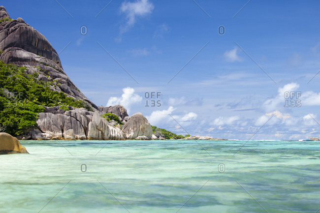 Clear blue waters of Indian Ocean