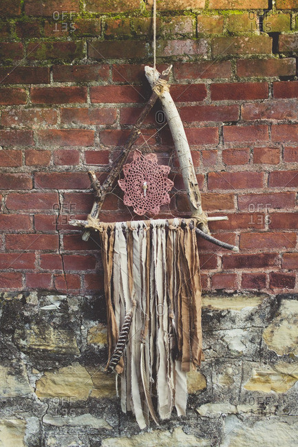 Dream catcher hanging on a wall