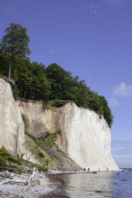 Chalk cliffs in Sassnitz