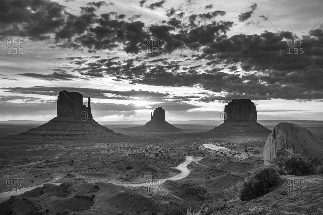 Sunrise at Monument Valley - Offset