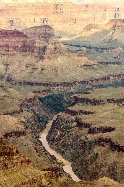 View of the Colorado River in Grand Canyon National Park