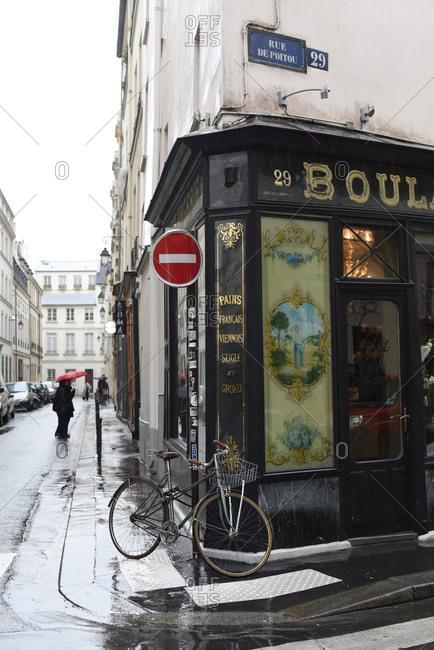 Paris, France - February 13, 2016 : Corner boulangerie